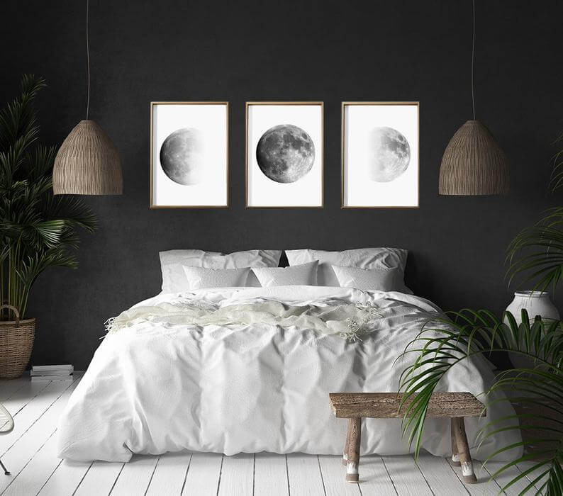 черная спальня фото 9