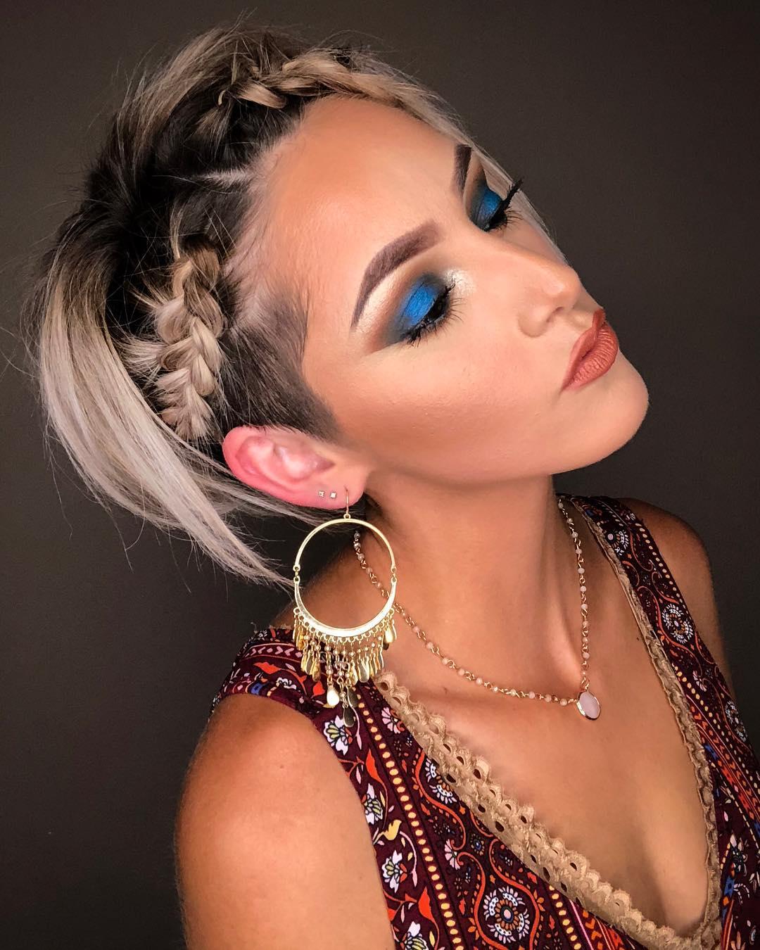 плетёные причёски для коротких волос фото 4