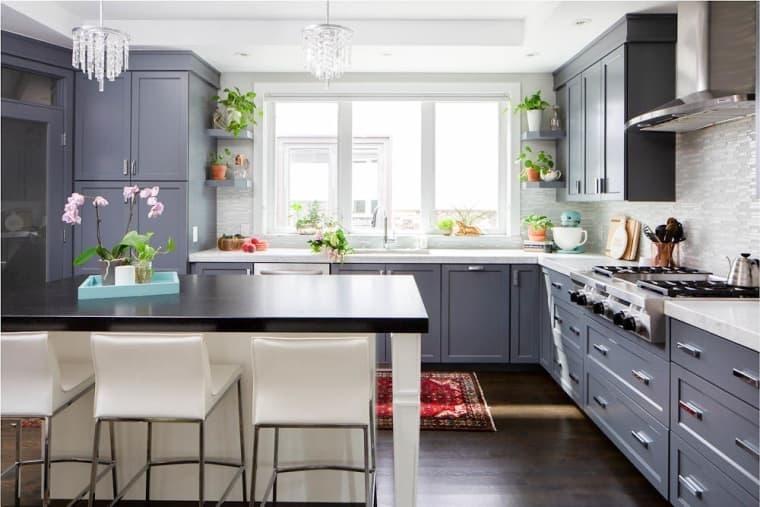 оформление кухни в серый цвет фото 113