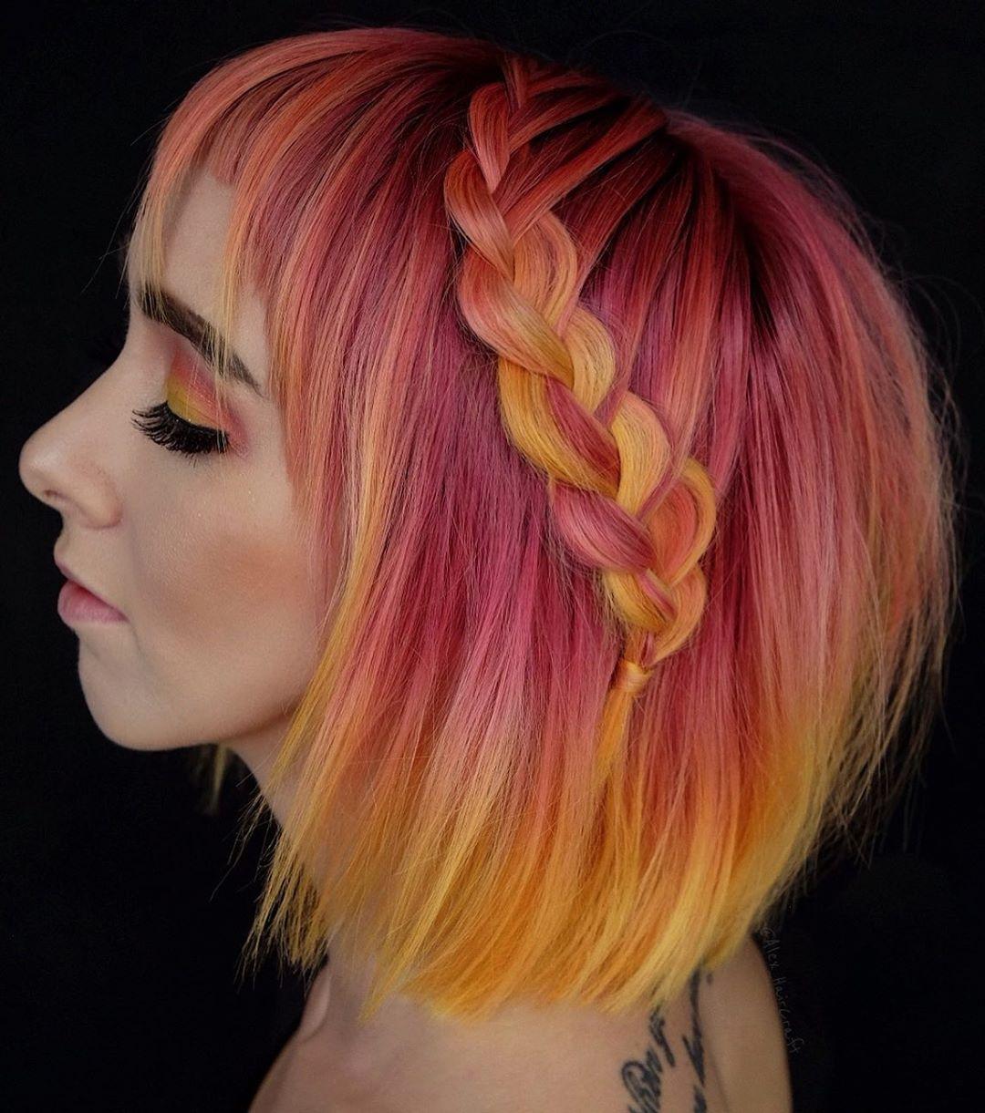 плетёные причёски для коротких волос фото 11