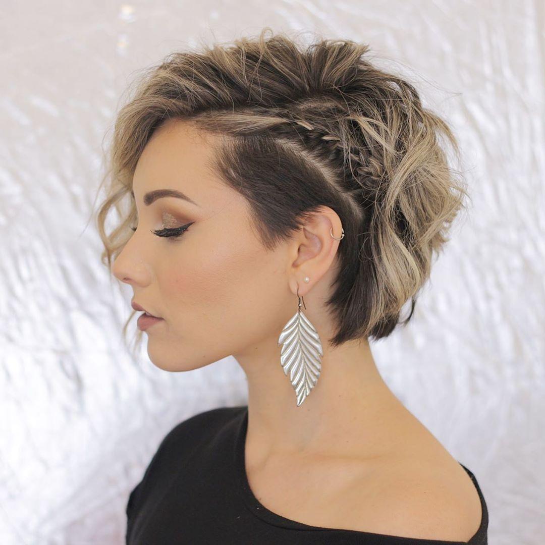 плетёные причёски для коротких волос фото 9