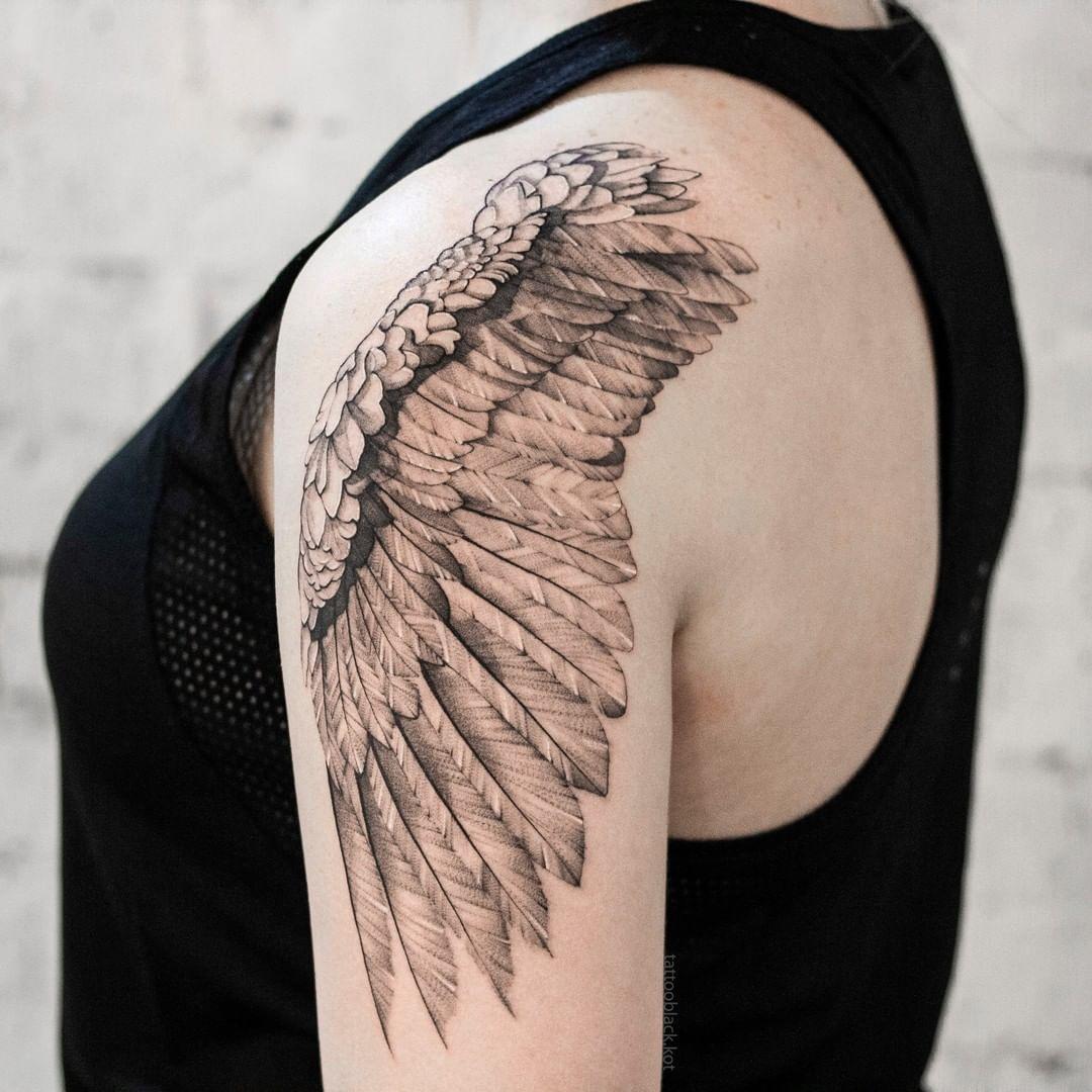 бюджетный отдых эскизы тату крыльев на спине фото диких