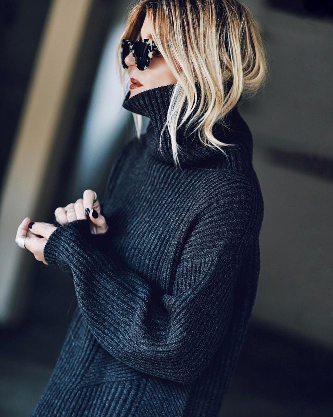 черный свитер фото 13