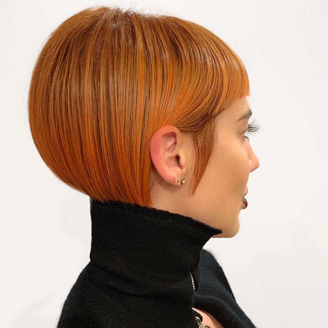 стрижки для коротких рыжих волос фото 3