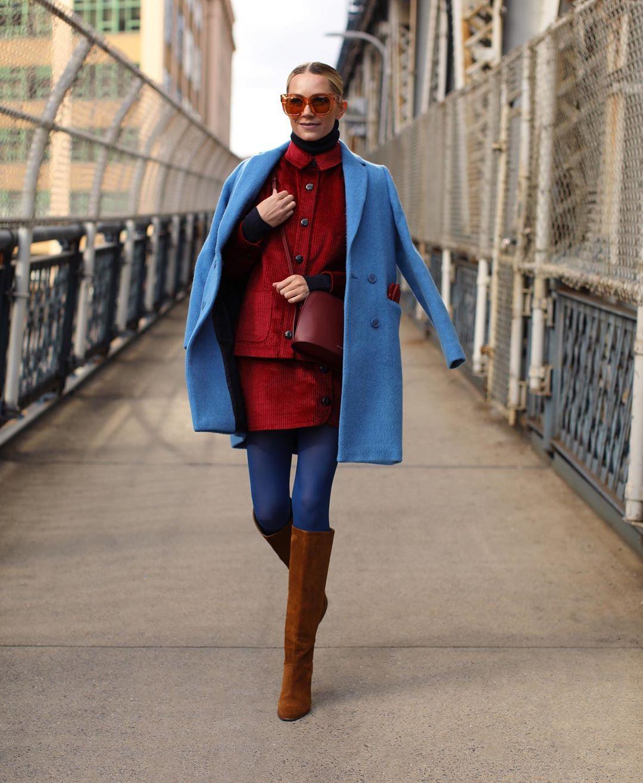 Голубое пальто фото 10