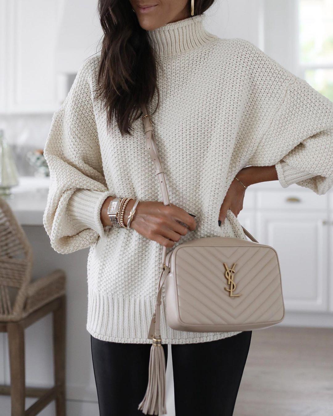 Белый свитер фото 26