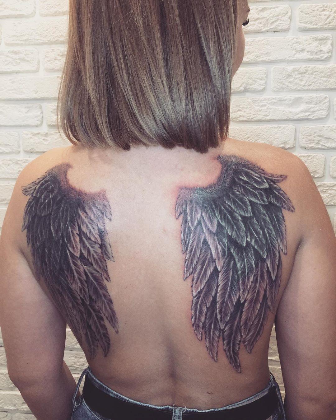 тату крылья фото 11