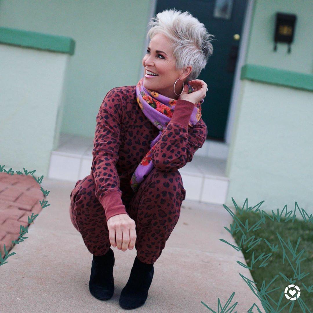 стрижки для пожилых женщин фото 15