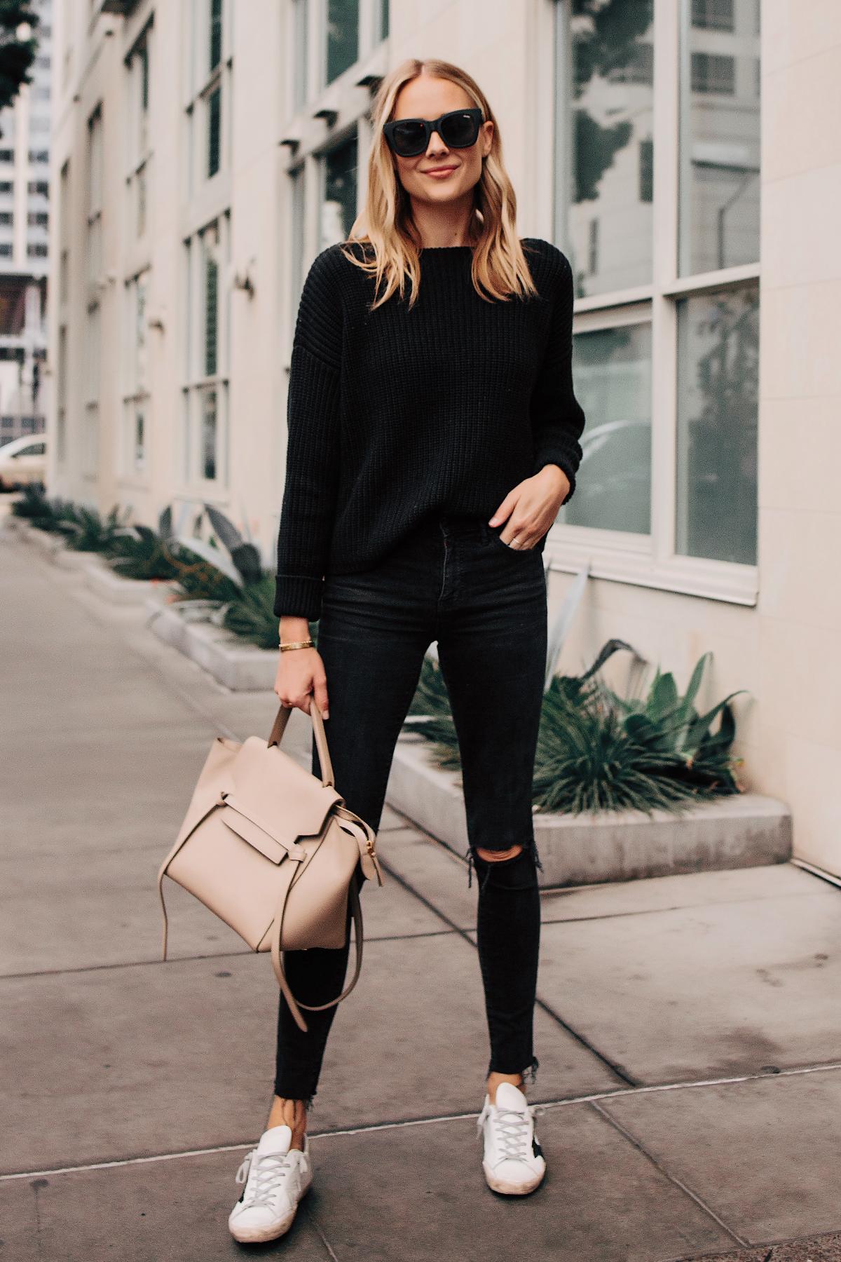 черный свитер фото 12