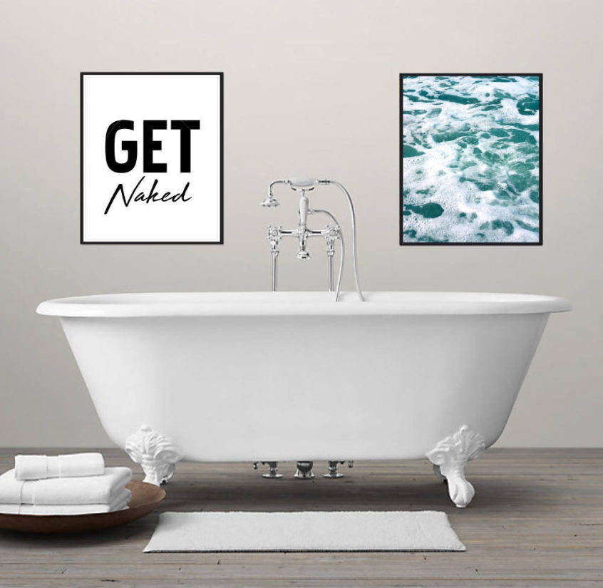 декор стен ванной комнаты фото 10