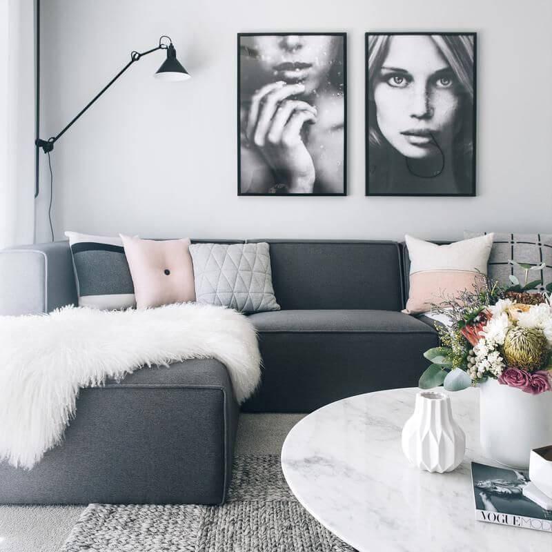 идеи для скандинавской гостиной фото 3
