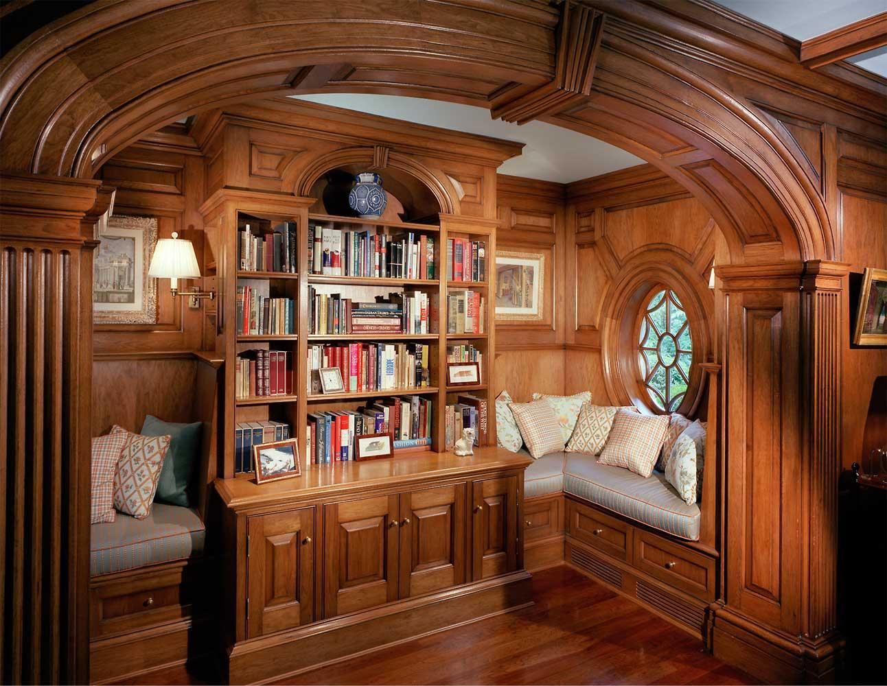 дизайн домашней библиотеки фото 8
