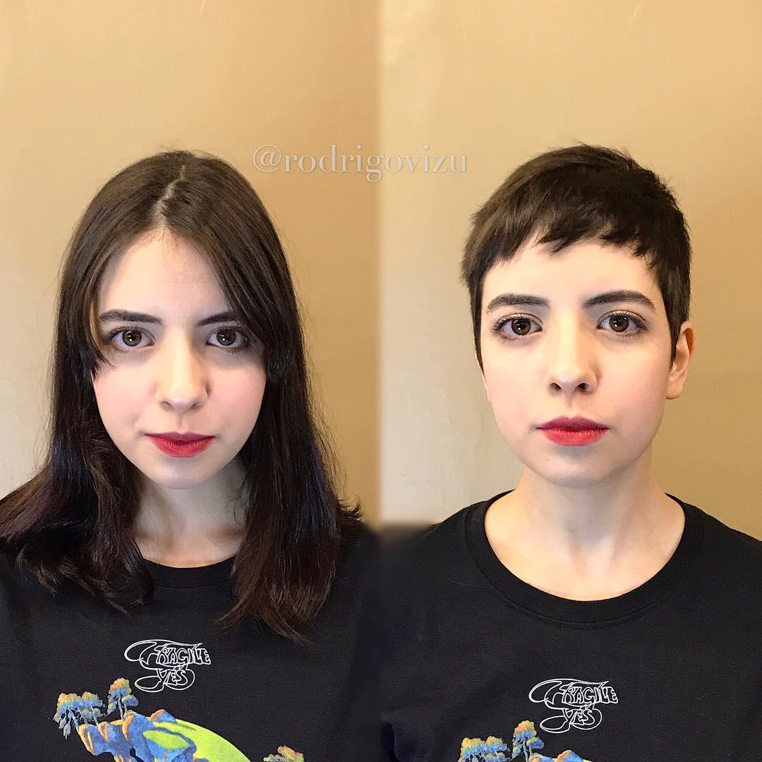 девушки, которые изменили свои прически фото 8