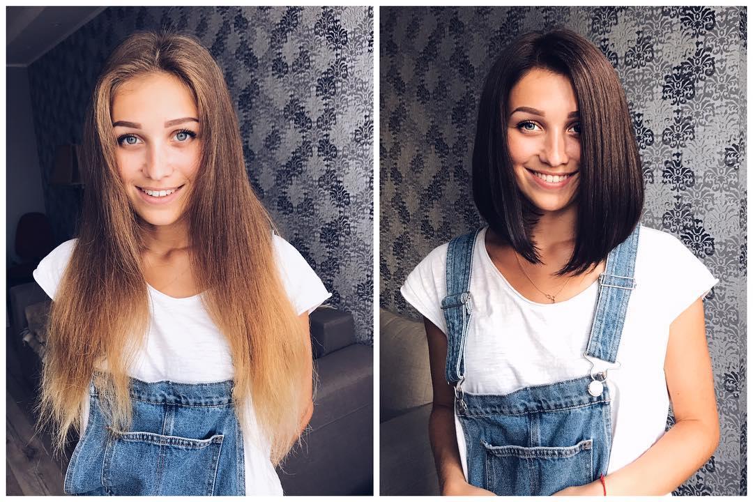 девушки, которые изменили свои прически фото 14