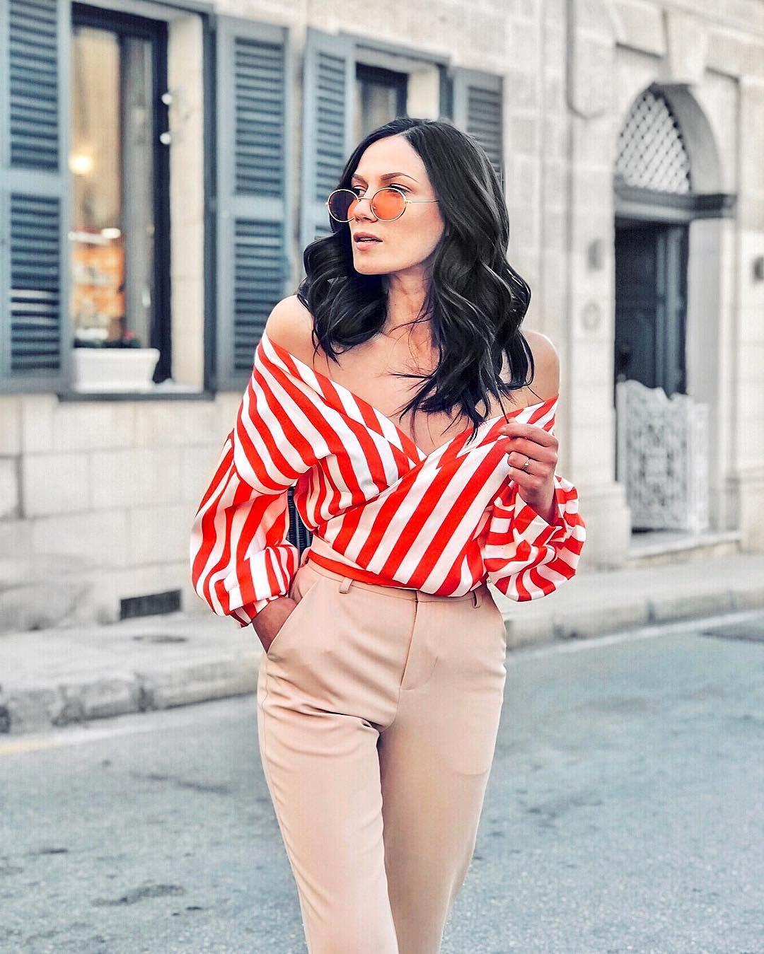 блузка в полоску фото 19