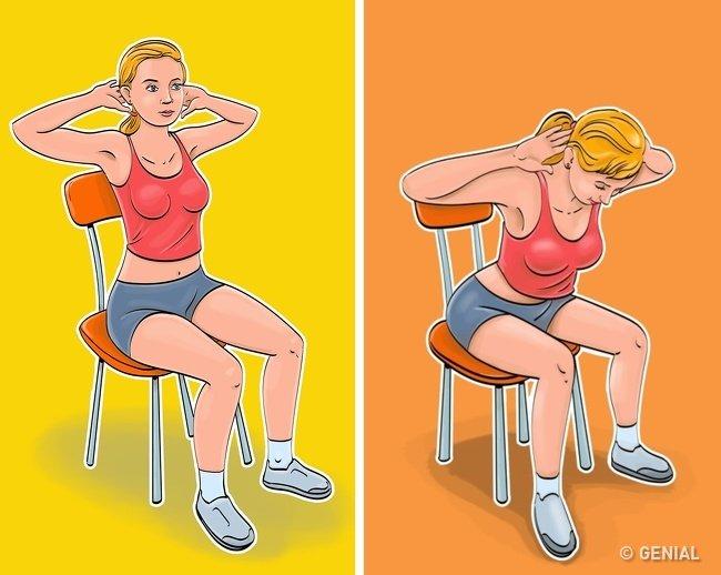 упражнения для плоского живота фото 3