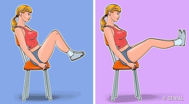 упражнения для плоского живота фото 5