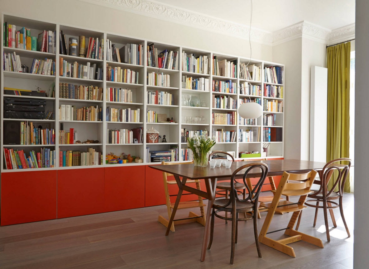 дизайн домашней библиотеки фото 14