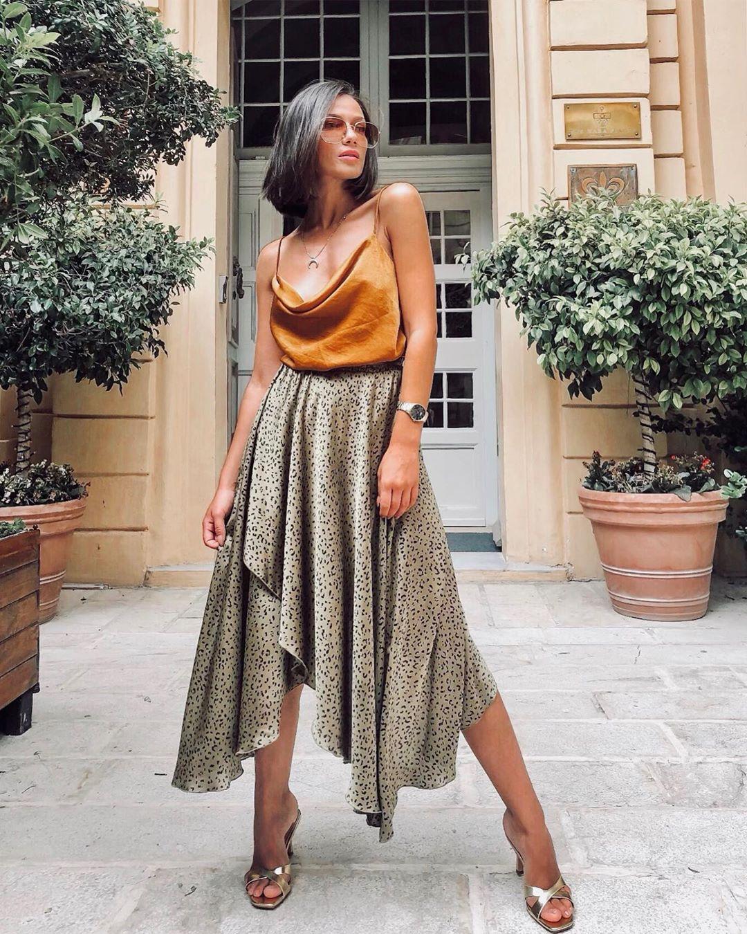 Асимметричная юбка фото 15