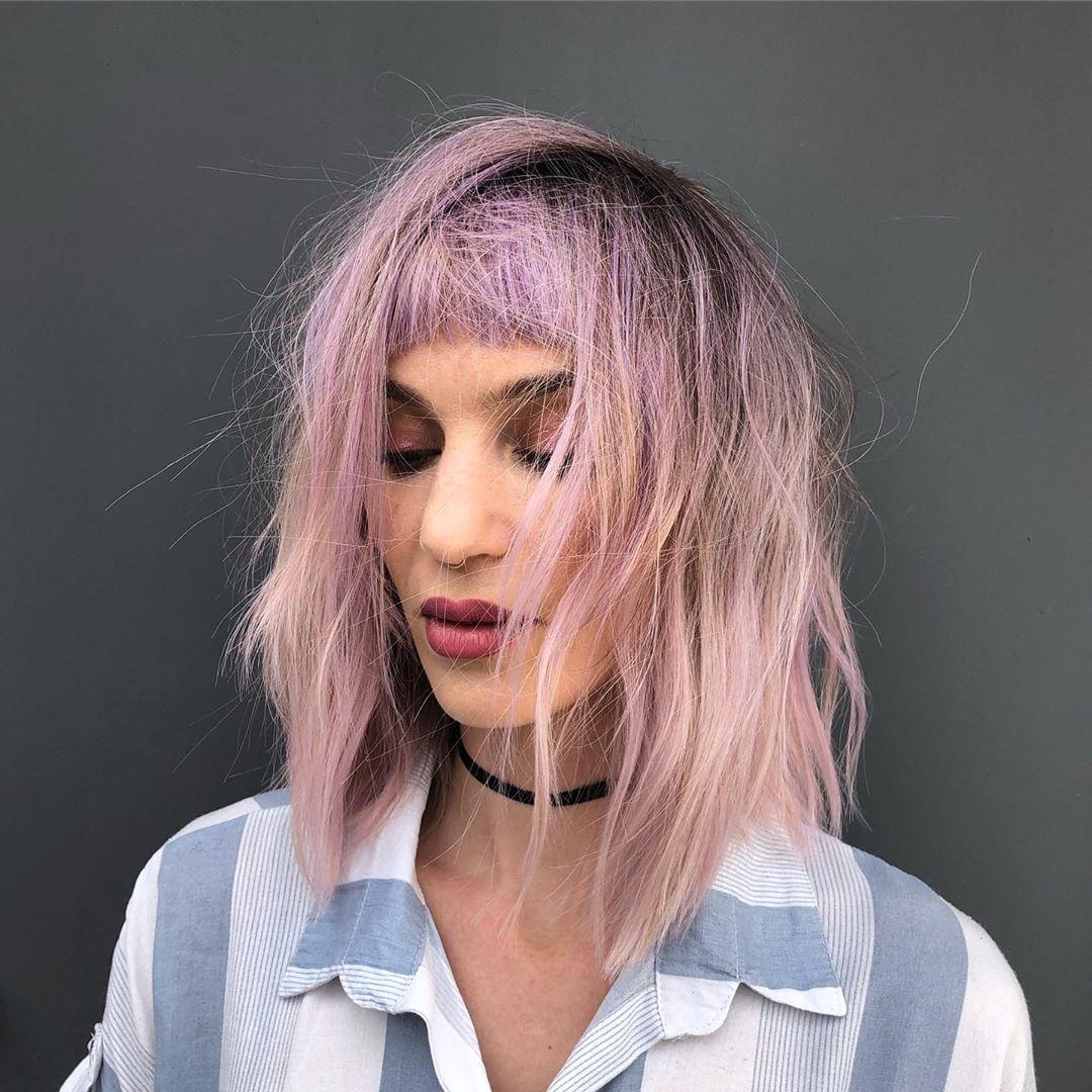 стрижки с челкой 2020 на тонкие волосы фото 4