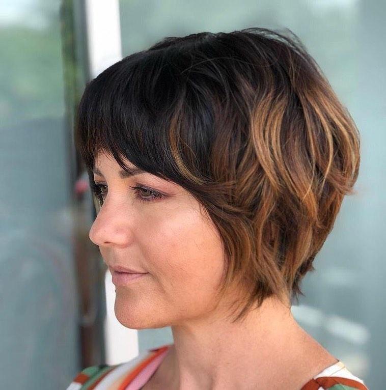 стрижки с челкой 2020 на тонкие волосы фото 6