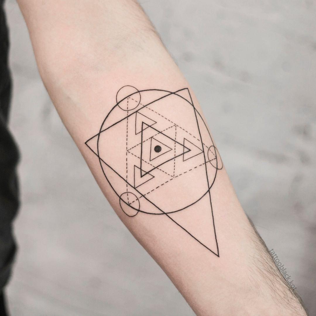 тату геометрия фото 10