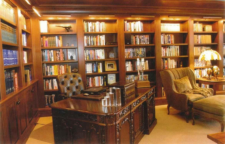 дизайн домашней библиотеки фото 15