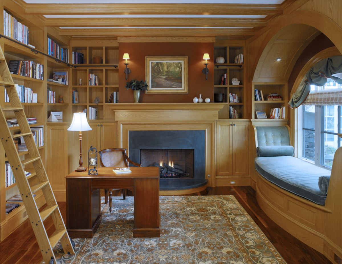 дизайн домашней библиотеки фото 11
