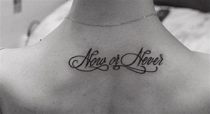 Сейчас или никогда тату